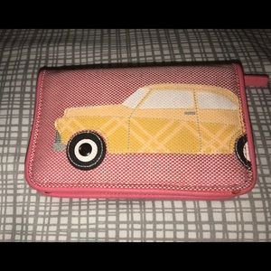 Vera Bradley RFID Beach Wallet in Red Oxford